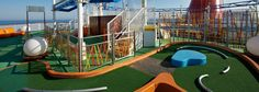 Challenge your friends and family to a fun game of mini golf and test your skills onboard Carnival. Discover all our onboard activities online now! Carnival Cruise Freedom, Carnival Breeze, Trampolines, Bahamas Cruise, Caribbean Cruise, Cruise Formal Night, Carnival Activities, Christmas Cruises, Royal Cruise