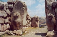 The Lion Gate at Hattusa, capital of the Hittite Empire. The city's history dates to before 2000 BC.