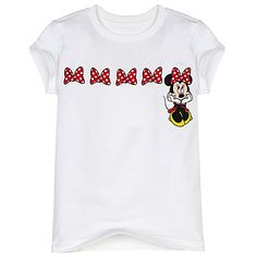 Simple glitter bow minnie shirt.  Add monogram? 2 for $20!