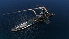 FBB-47 'Furious Thunder' class Fast Battleship by Helge129.deviantart.com on @DeviantArt
