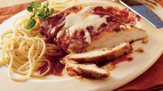 Breaded chicken topped with spaghetti sauce has mass appeal. Take it to the table in less than 30 minutes!