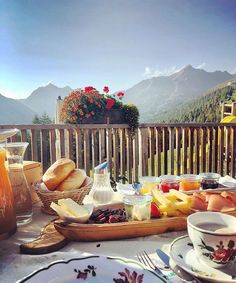 And how is your start in the day? We prefer a with a and surrounded by the . Visit Austria, Green Grass, Alps, Table Decorations, Vacation, Mountains, Breakfast, Day, Nature
