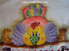 Catia Artes Manuais: PASSO A PASSO PINTURA GALINHA EM ESTILO PATCHWORK