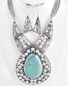 Large & Chunky Turquoise Drop  MCN444312  LOVE LOVE LOVE!!!!!!!!