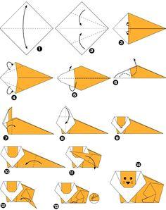 Origami de león