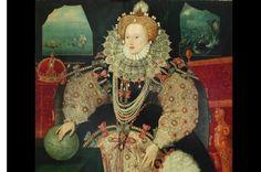 Elisabetta Tudor, figlia di Enrico VIII e Anna Bolena, in un dipinto attribuito a George Gower.