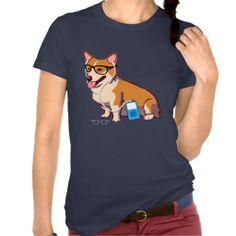 Hipster Corgi T-Shirt (without text)