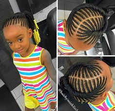 Kids braided ponytail