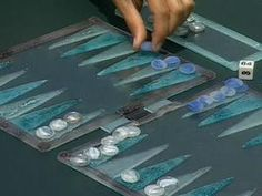 Fused Glass Backgammon Set : Decorating : Home & Garden Television