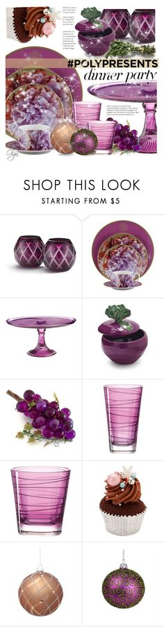 """#PolyPresents: Dinner Party"" by olga1402 on Polyvore featuring interior, interiors, interior design, home, home decor, interior decorating, Asprey, Roberto Cavalli, Martha Stewart and Sur La Table"