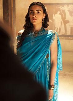 Aiysha Hart as Ariadne in Atlantis Movie Costumes, Period Costumes, Fashion Tv, Medieval Fantasy, Ancient Greece, Atlantis, Character Inspiration, Lady, Portrait