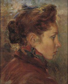 Giorgio Kienerk  Profilo di ragazza, 1907