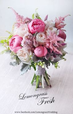pink and white wedding bouquet (scheduled via http://www.tailwindapp.com?utm_source=pinterest&utm_medium=twpin)