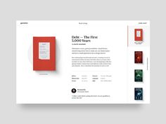 Vía book gallery concept by Christopher Reath - Dribbble Website Design Layout, Web Layout, Layout Design, Webdesign Inspiration, Web Inspiration, Responsive Web Design, Ui Web, Ux Design, Page Design