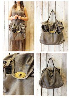 "MAIL BAG 5"" Handmade Italian Leather Messenger Bag di LaSellerieLimited su Etsy"