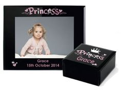 Super sleek black glass range from Personalised Memento Company. www.personalisedmemento.co.uk Baby Christening Gifts, Black Glass, Range, Princess, Cookers, Princesses
