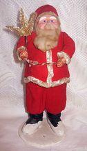 Large 30's Papier Mache Santa Claus All Original Figure
