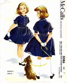 1950s McCall's 5086 Pattern Helen Lee Girls Dress by patternshop, $13.99