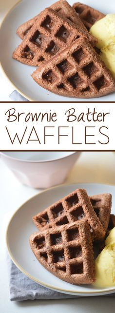 Brownie Batter Waffles Why wait until after dinner to have dessert? Kick off your weekend with these Brownie Batter Waffles. Because the only thing better than waffles is chocolate waffles! Brownie Waffles, Chocolate Waffles, Brownie Batter, Chocolate Chips, Cake Batter Waffles, Waffle Batter Recipe, Köstliche Desserts, Delicious Desserts, Dessert Recipes