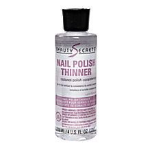 For the love of nail polish, DON'T THIN YOUR POLISH WITH ACETONE.  Use this.  Please.