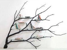 Книжная полка из веток дерева от Себастьяна Эрразуриза. » Criora народная…