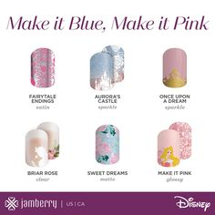 Sleeping beauty designs from the new Disney collection from Jamberry  heywood.jamberry.com