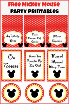 Play. Party. Pin.: Mickey Mouse Clubhouse Party Ideas and Free Party Printables