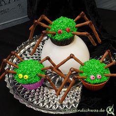 Idee für den Gruselabend: Spinnenmuffins