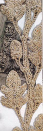 Incredible Oak Leaf Acorns Sweater Aran Style Knitting Pattern  - eBay