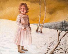 Sarah in snowscape