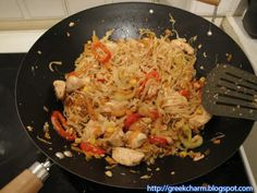 Exotic Food, Noodles, Salads, Chinese, Plates, Chicken, Meat, Cooking, Ethnic Recipes