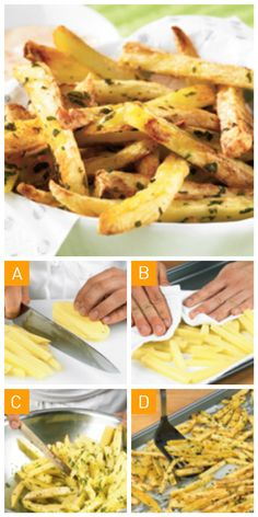 Des #frites au #four savoureuses sans salissures en 4 étapes simples! #faitmaison Potato Recipes, Veggie Recipes, Cooking Recipes, Healthy Recipes, Good Food, Yummy Food, Everyday Dishes, Savoury Dishes, Light Recipes