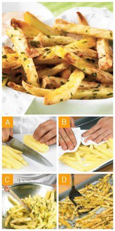 Des #frites au #four savoureuses sans salissures en 4 étapes simples! #faitmaison