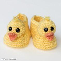 Duckling Crochet Baby Booties