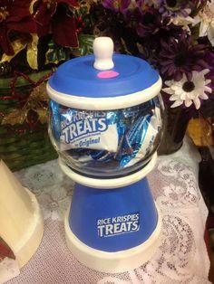 Rice treat jar by Wreathsandmoredecor on Etsy, $20.00
