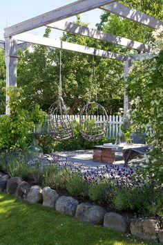 pergola with swing seats