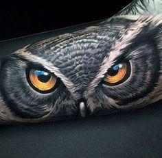 realista_coruja_braço_de_tatuagem #tattoosformenbadass