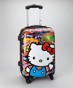 This Hello Kitty Sticker Suitcase by Loungefly is perfect! #zulilyfinds