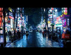 #Kabukicho Rain 歌舞伎町雨 [] by #burningmonk 僧侶を燃焼 [] http://lkazphoto.tumblr.com/