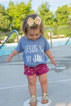 Jesus Is My Jam Toddler/Infant Tee Tank Top by LovelyLittlesShop