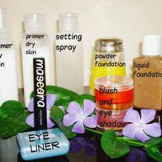 DIY Starter Makeup Kit and More. NOT ORGANIC, but can be altered to make organic.