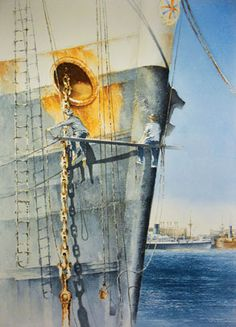 Ten years of maritime art Image Art Pictures, Art Images, Photos, Merchant Navy, Merchant Marine, Ship Drawing, Ship Paintings, Boat Art, Boat Painting