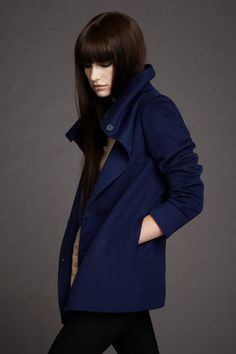 $875 Lan Jaenicke Stamford Coat available in black, To purchase contact Serafina at info@shopserafina.com or 626.799.9899
