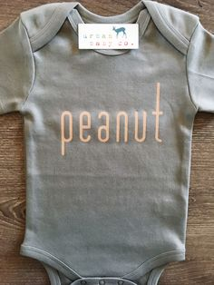 Peanut Baby Boy Girl Unisex Infant Toddler Newborn Organic Fair Trade Bodysuit Outfit One Piece Clothes Layette Shirt Tee Baby Outfits, Body Suit Outfits, Toddler Outfits, Newborn Outfits, My Baby Girl, Our Baby, Baby Baby, Everything Baby, Baby Time