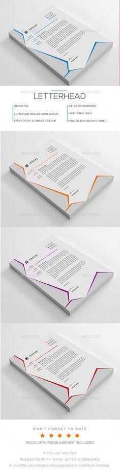 Letterhead Template PSD Letterhead Design Templates Pinterest - psd letterhead template