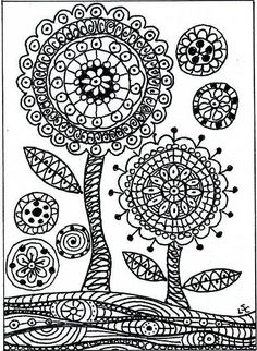 Zendala flowers | Micron pen on bristol board. 2.5x3.5 inche… | dots 'n' doodles | Flickr