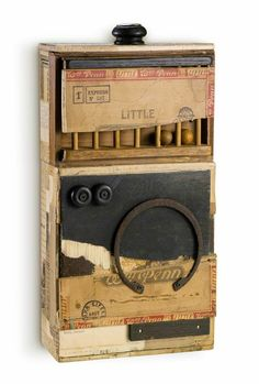 Scott Gordon - little playmate, 2014 / box assemblage Collages, Found Object Art, Found Art, Mixed Media Boxes, Box Art, Art Boxes, Assemblage Art, Outsider Art, Shadow Box