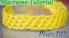 How to make macrame  frienships Bracelet design tutorial wall hanging pa...