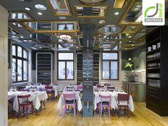 Love the mish-mash use of furniture and lighting. ENOTECAS! Bella Italia wine store & restaurant by Ippolito Fleitz Group, Stuttgart – Germany