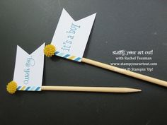 July's My Paper Pumpkin Party Pennants: Easy cupcake embellishments - Stamp Your Art Out!